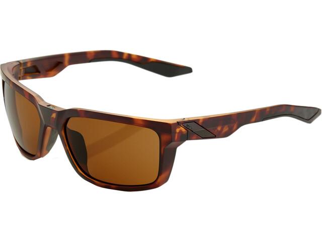 100% Daze Smoke Glasses matte dark havana
